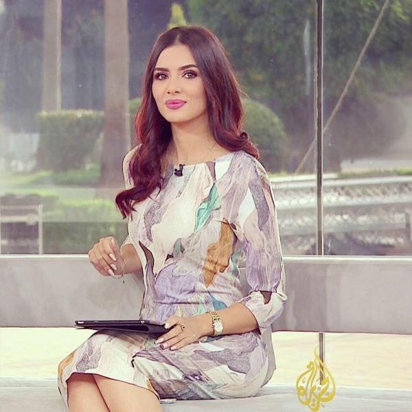 أول أطلالة لـ لينا القيشاوي على قناة الجزيرة