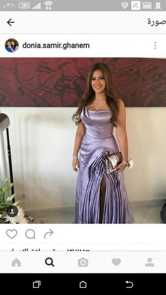 بالصور فستان دنيا سمير غانم في حفل زفاف إيمي والرداد مقلد عن نسخة أكثر جرأة