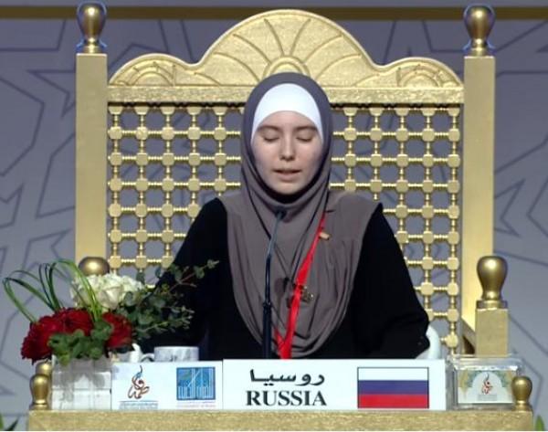 بالفيديو.. فتاة روسية من أبوين مسيحيين تبدع في مسابقة للقرآن الكريم