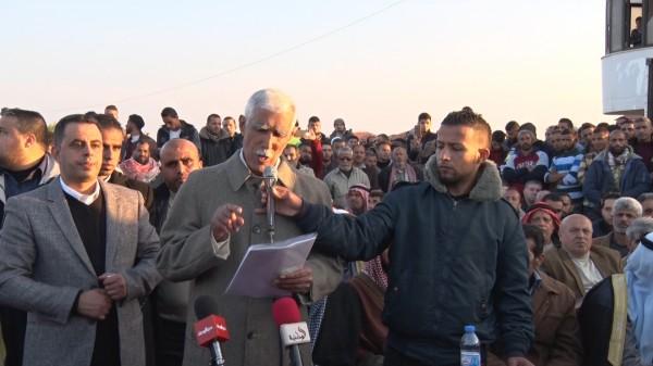 في حشد مهيب  عشائر بدوية في قطاع غزة، طالبت بالاحتكام إلى الشرع والقانون، فيما يتعلق بقضية الشجار بين عائلتي أبو مدين ودغمش