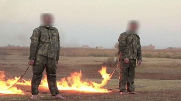 تنظيم الدولة يبث فيديو لإعدام جنديين تركيين حرقًا في سوريا