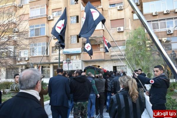 تشييع رسمي وحزبي وشعبي مهيب للفنان القومي رفيق سبيعي في دمشق