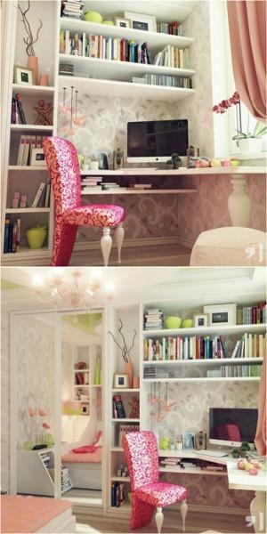 مكتبات أنيقة لغرفة أطفالك