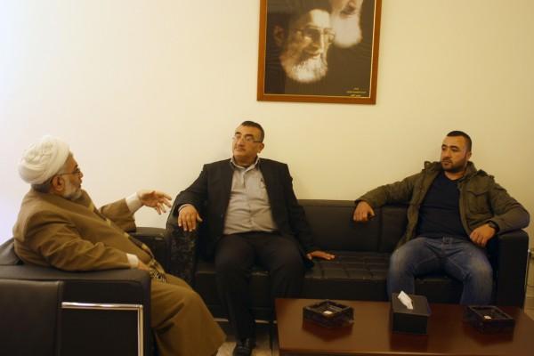 تجمع العلماء المسلمين يستقبل لجنة الأسير يحي سكاف