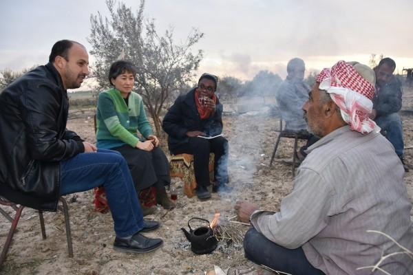 العمل الزراعي يستقبل وفدا من مؤسسة الجراس روتس العالمية في مقره بغزة