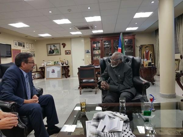 رئيس ناميبيا:سنقف مع الشعب الفلسطيني فى تحقيق حلمه بالحرية