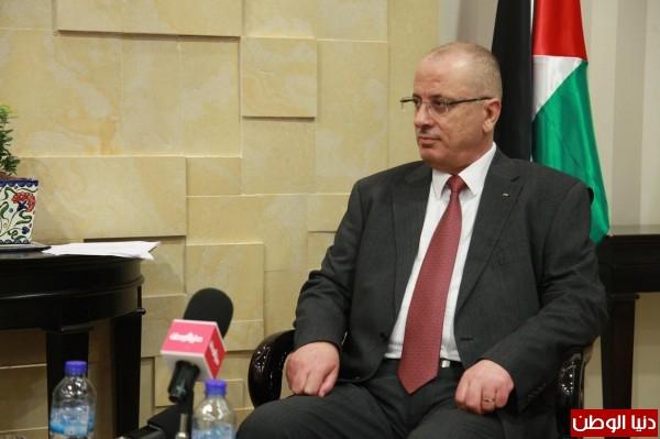 """الحمد الله في حوار مطول لـ""""دنيا الوطن"""": مفاوضات لاستخراج الغاز الطبيعي من بحر غزة"""