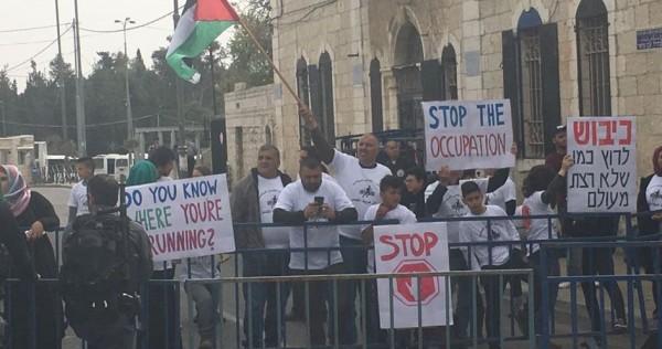 Palestinians protest Jerusalem marathon