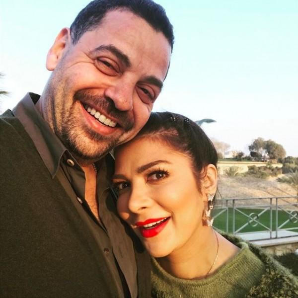صورة نادرة من حفل خطوبة أصالة لزوجها طارق العريان