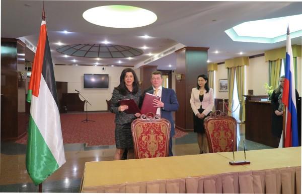 اللجنة الحكومية الفلسطينية الروسية المشتركة تختتم أعمالها في موسكو