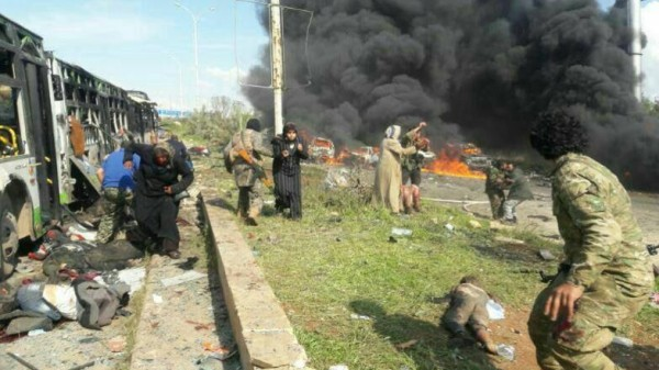 Death toll mounts after bomb blast on Aleppo evacuee bus convoy