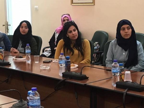البرلمالن الطلابي في فرخه يزور المجلس التشريعي برام الله