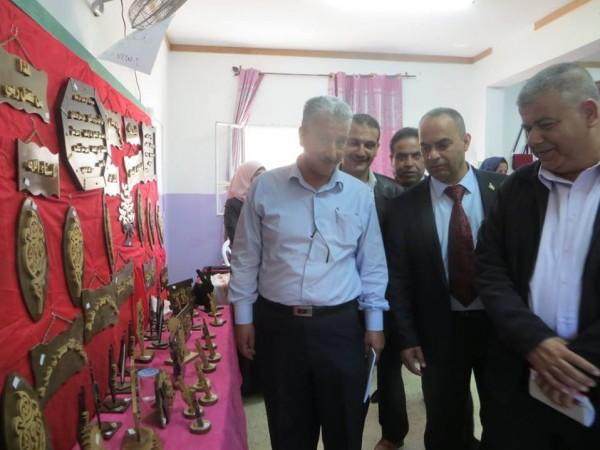 """مدرسة برقين تفتتح معرض الصناعات الوطنية الفلسطينية """"حراس البيدر"""""""