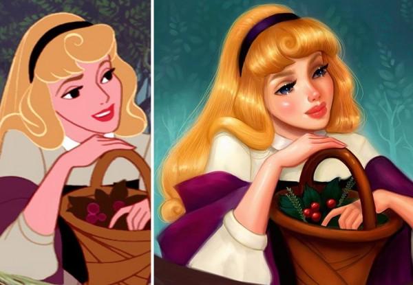 أميرات ديزني يستغرقن 12 ساعة رسم