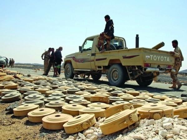 منظمة دولية تدعو الحوثيين للتوقف عن استخدام الألغام