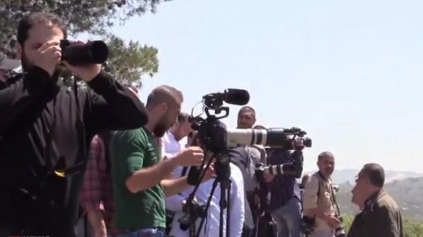 حزب الله ينظم جولة للصحافيين على الحدود مع اسرائيل