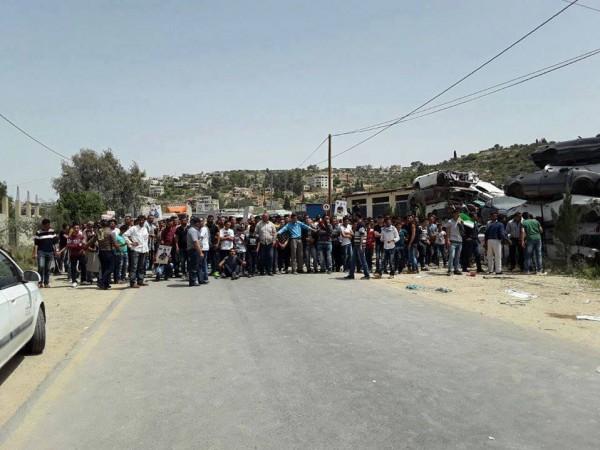 مواجهات مع الاحتلال جنوب نابلس