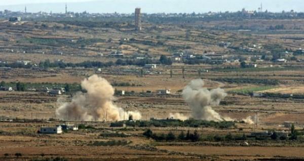 الجيش الإسرائيلي يقصف مواقع النظام السوري بالقنيطرة