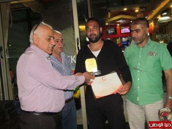 بالصور.. جمعية صور الانسان تكرم الرياضيين الفلسطينيين