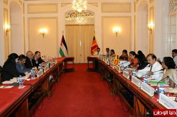 بدء الجولة الأولى من المشاورات السياسية بين وزارتي فلسطين وسريلانكا