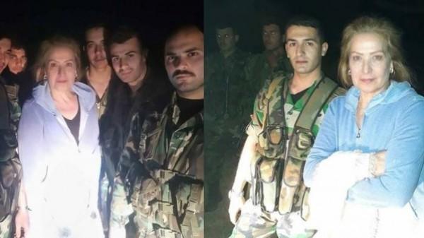 رغدة بزيارة سرية لقوات النظام السوري