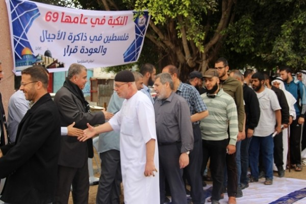 خلال مهرجان برفح..الأجداد يسردون حكاية النكبة ويسلمون الأحفاد مفتاح الدار