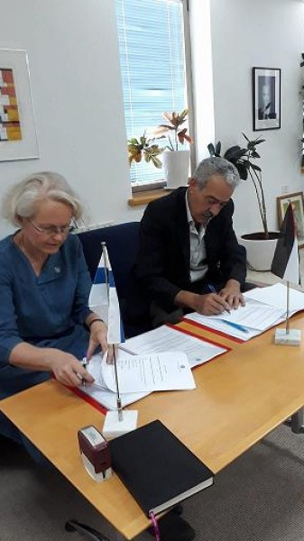 Partnership agreement between the Finnish Representative Office and MADA Center