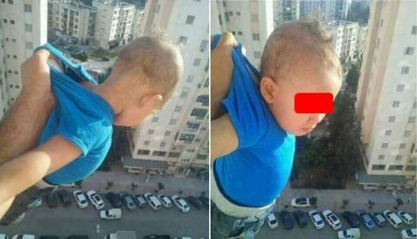 شخص يغامر بحياة طفل من أجل صور!