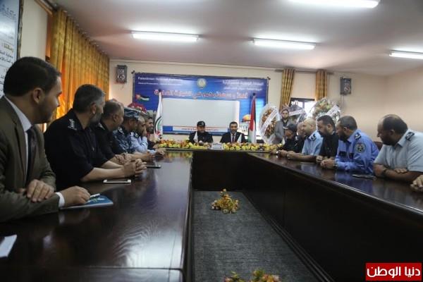 النائب العام بغزة يؤكد علي هيبة المؤسسة القضائية والشرطية