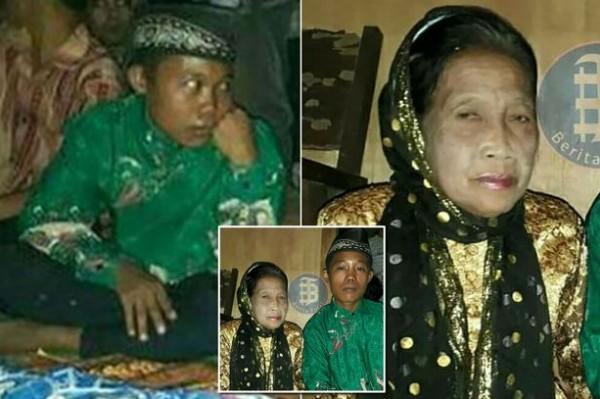 حب يجمع إندونيسية في الـ71 وصبي في الـ16 يكلل بالزواج