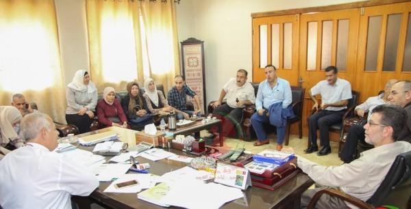 رئيس بلدية طولكرم يستقبل وفدًا من مؤسسات الاتحاد الوطني