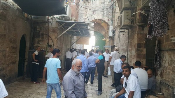 فيديو وصور..6 إصابات في اعتداءات للاحتلال على المعتصمين قرب باب الأسباط