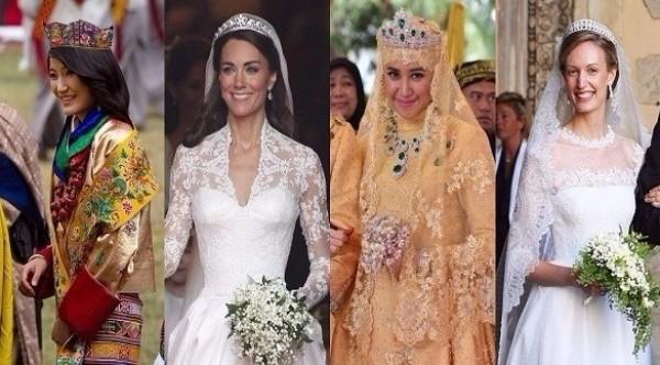 c8cb5261d6bac شاهدي فساتين زفاف الأميرات حول العالم