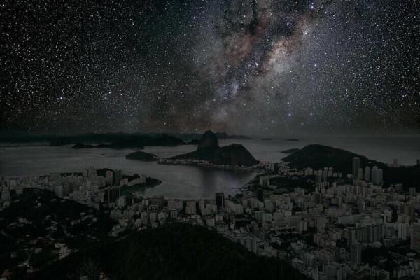 شكل الأرض لو تم اطفاء جميع الأضواء
