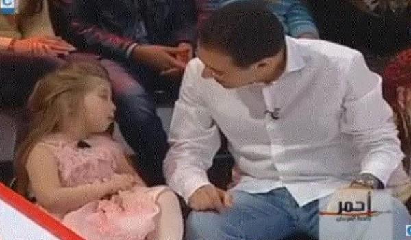 """فيديو: طفلة جميلة بدم خفيف في برنامج """" بالخط الاحمر"""""""