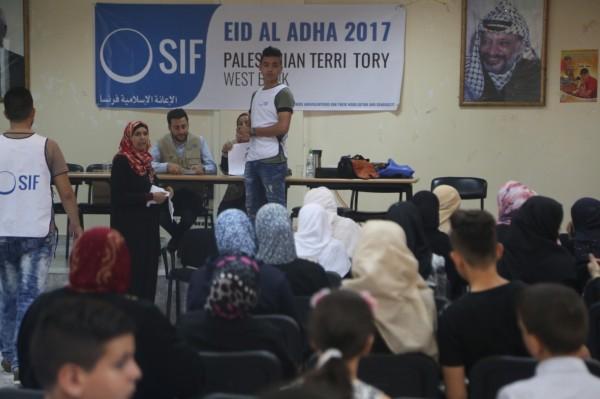 الإعانة الإسلامية تقدم 433 حصة من لحوم الأضاحي لمدينة سلفيت