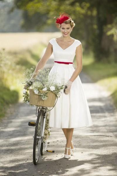 1a00decff بالصور: أجمل فساتين زفاف قصيرة مناسبة للصيف | دنيا الوطن