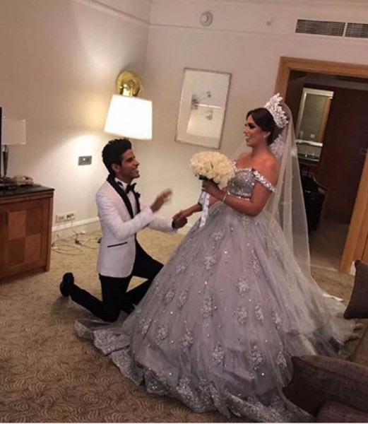 الصور الأولى لزفاف إسراء عبدالفتاح وحمدي المرغني