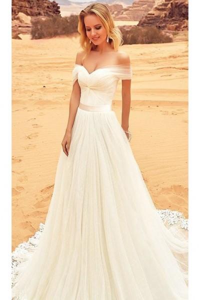 لمحبي الرقة: فساتين زفاف ناعمة ستتوجك في أفضل صورة