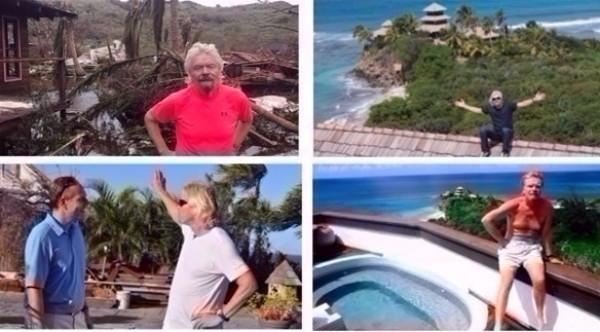 """صور صادمة لجنة ملياردير تحولت إلى جحيم بسبب إعصار """"إرما"""""""