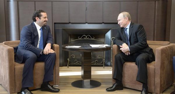 """لقاء """"بوتين- الحريري"""" يركز على الأزمة السورية"""