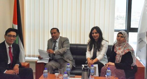السفير شامية يستقبل ممثل جمهورية كوريا لدى دولة فلسطين