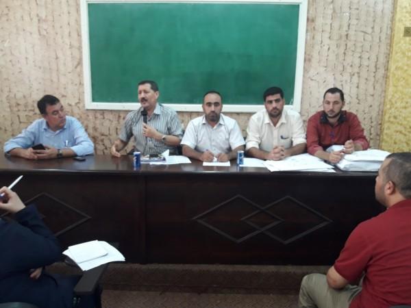 مديرية التربية والتعليم شمال غزة تعقد اجتماعاً لمنسقي الصحة المدرسية