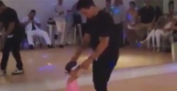 """طفلة تشعل """"فيس بوك"""" برقصة تانجو مع شاب"""