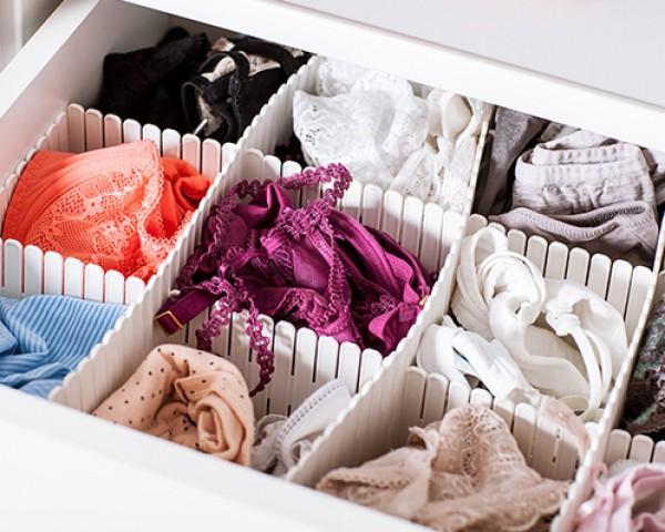 صور: طرق ترتيب حمالات الصدر في خزانة ملابسك