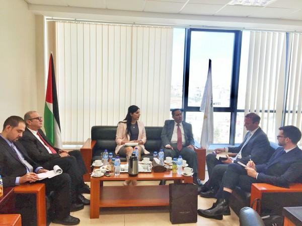 السفير شامية يستقبل سفير نيوزيلندا لدى فلسطين