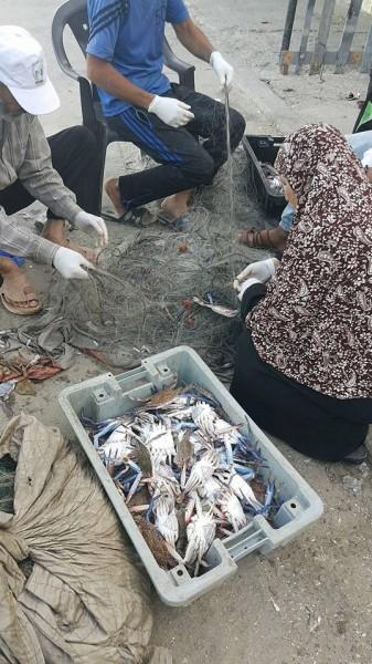 شاطئ بحر غزة صباح اليوم