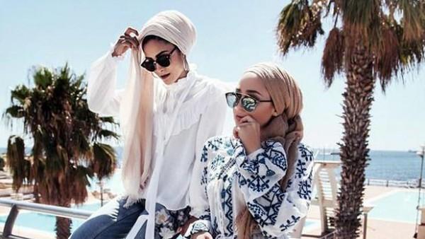 صور: نسقي اللون الأبيض مع الحجاب