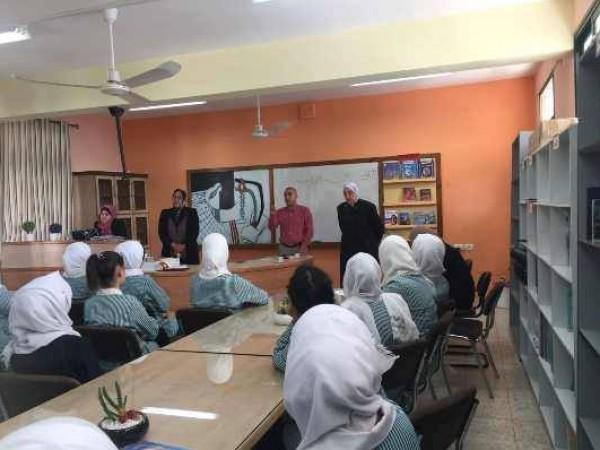 الشبيبة تنظم محاضرة حول تاريخ القضية الفلسطينية في مدرسة الشيماء الثانوية