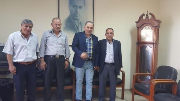 """وفد من جبهة التحرير الفلسطينية يزور مركز  """"القومي"""""""